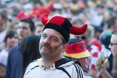 Ventilador de futebol alemão Imagens de Stock Royalty Free