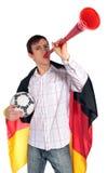 Ventilador de futebol alemão Fotografia de Stock