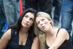 Ventilador de futebol de France Foto de Stock