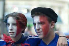 Ventilador de futebol de France Fotos de Stock