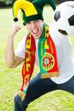 Ventilador de futebol de Portugal foto de stock royalty free