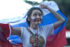 Ventilador de futebol do russo Imagem de Stock Royalty Free