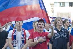 Ventilador de futebol do russo Foto de Stock Royalty Free
