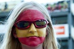 Ventilador de futebol espanhol Fotografia de Stock Royalty Free