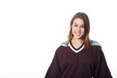 Ventilador de hockey imagenes de archivo