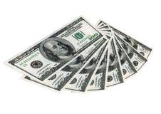 Ventilador de los dólares del dinero Foto de archivo