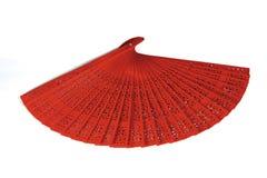 Ventilador de madeira vermelho Fotos de Stock Royalty Free