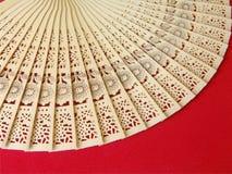 Ventilador de madera de Stensiled Imágenes de archivo libres de regalías