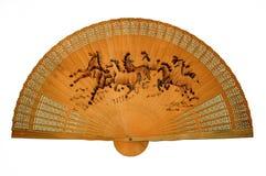 Ventilador de madera oriental Fotos de archivo