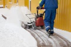 Ventilador de nieve Foto de archivo libre de regalías