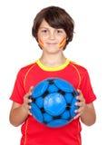 Ventilador de sorriso da criança da equipe espanhola Fotos de Stock Royalty Free