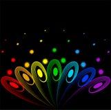 Ventilador del arco iris de plumas Imágenes de archivo libres de regalías