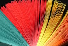 Ventilador del color foto de archivo