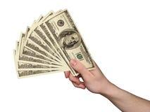 Ventilador del dólar Imagen de archivo libre de regalías