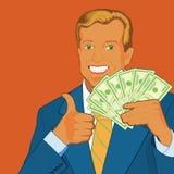 Ventilador del dinero Foto de archivo libre de regalías