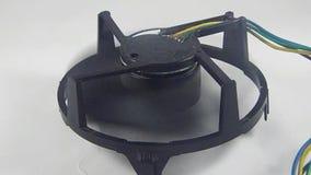 Ventilador del ordenador en funcionamiento almacen de metraje de vídeo