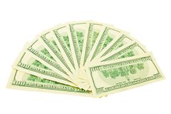 Ventilador do dólar Fotografia de Stock