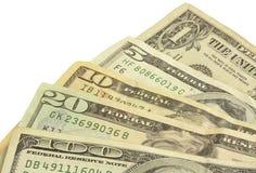 Ventilador do dinheiro Fotos de Stock Royalty Free