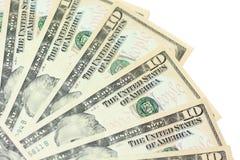 Ventilador do dinheiro Fotografia de Stock Royalty Free