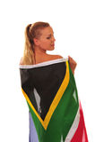 Ventilador drapejado na bandeira Fotos de Stock Royalty Free