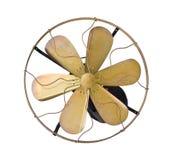 Ventilador elétrico do vintage de bronze imagem de stock