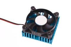 Ventilador movente em um dissipador de calor Imagens de Stock