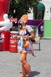 Ventilador-mulher dos Países Baixos Foto de Stock