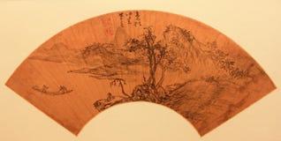 Ventilador plegable tradicional chino Imagen de archivo