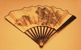 Ventilador plegable tradicional chino Imagenes de archivo