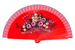 Ventilador rojo Imagen de archivo libre de regalías