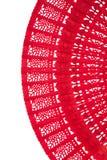 Ventilador rojo chino de madera Fotografía de archivo