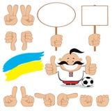 Ventilador ucraniano Imagem de Stock