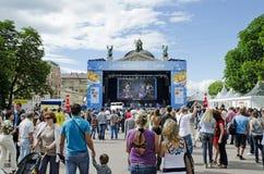 Ventilador-zona en Euro-2012 Foto de archivo