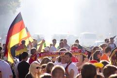 Ventiladores alemães no copo de mundo 2010 Fotografia de Stock