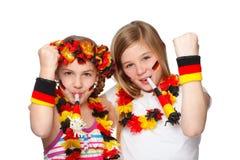 Ventiladores alemanes jubilating Fotos de archivo libres de regalías