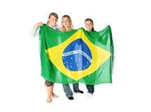 Ventiladores brasileiros fotos de stock