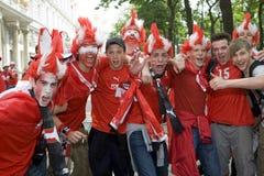 Ventiladores de Áustria no euro- 2008 Fotografia de Stock Royalty Free