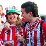 Ventiladores de Atletico Bilbao Fotos de Stock Royalty Free