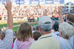 Ventiladores de béisbol Imagenes de archivo