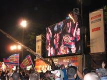 Ventiladores de Barcelona que celebran Fotos de archivo