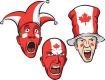 Ventiladores de deportes de Canadá ilustración del vector
