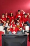 Ventiladores de deportes suizos Foto de archivo libre de regalías