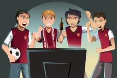 Ventiladores de fútbol ilustración del vector