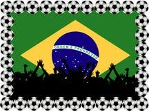 Ventiladores de fútbol el Brasil ilustración del vector