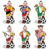 Ventiladores de fútbol en la deporte-barra ilustración del vector