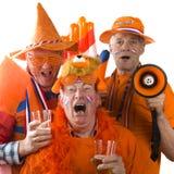 Ventiladores de fútbol holandeses Fotografía de archivo libre de regalías