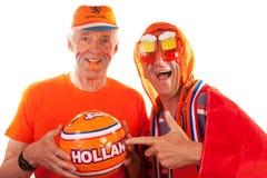 Ventiladores de fútbol holandeses imagen de archivo libre de regalías