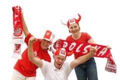 Ventiladores de fútbol polacos fotos de archivo libres de regalías