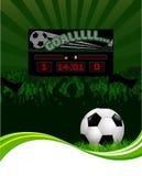 Ventiladores de fútbol y marcador Fotos de archivo