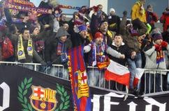 Ventiladores de FC Barcelona Foto de Stock Royalty Free